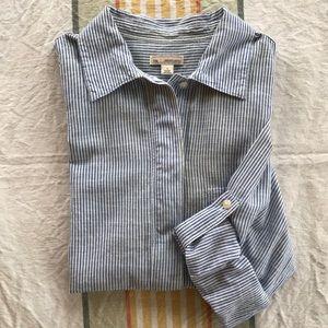Gap Boyfriend Stripe Popover Shirt Size Small